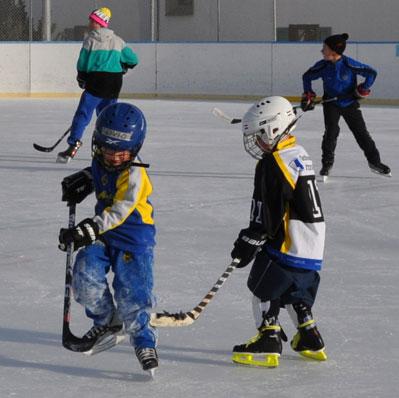 hockey sul ghiaccio ristorante celerina